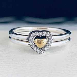 Authentic pandora heart of gold ring size 7 💕✨💕✨